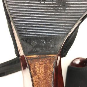 Donald J. Pliner Shoes - Donald J Pliner Black Slingback Brown Wedges 7.5
